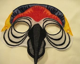 Scarlet Macaw Mask