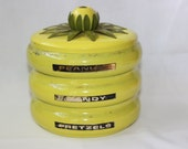 Yellow Metal Snack Canister