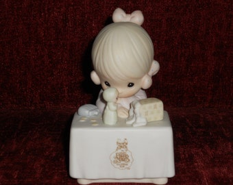 "Precious Moments Figurine-""My Happiness""-Enesco-1989"