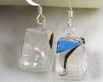 Dichroic Fused Glass Earrings