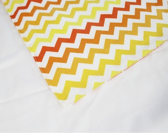 Orange Chevron Multitone Waterproof Changing Pad - small