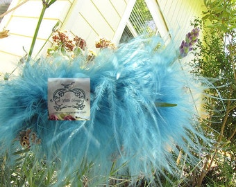 Marabou Boa Feathers Teal Blue
