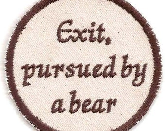 Shakespeare, A Winter's Tale, Exit, pursued by a bear Patch