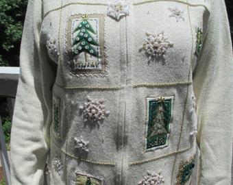 Tacky Christmas Sweater, Tacky Sweater, Christmas Sweater,Tacky Holiday Sweater, Holiday Sweater, Snowflake Sweater, White Sweater