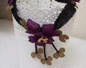 Purple Necklace,Crochet Flower Necklace,purple Necklace,Floral necklace,Statement Necklace