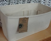 Purse insert ORGANIZER Shaper / 14.5 x 7 x 7 / Sturdy / NATURAL / Fits LV Neverfull Gm / With stiff wipe-clean bottom / Ready to ship