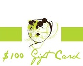 Gift Certificate 100 (dollars)- Valid for the entire Element Boutique Etsy Shop- No Expiration Date