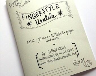 Fingerstyle Ukulele Book - Instructional Book - Handwritten