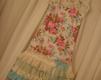 Gypsy Dress Shabby Rose Ruffle