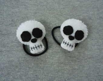 Skull Ponytail Holders for Halloween