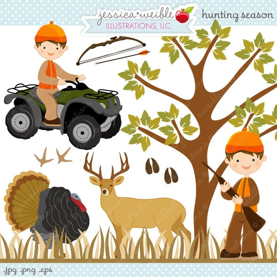 hunting season cute digital clipart commercial use ok little rh catchmyparty com Deer Hunting Cartoons deer hunting cartoon clipart