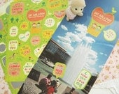 Say Balloon Stickers / Green Garden - 2 sheets (4.7 x 7in)