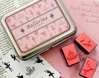 9 Set - Diy Stamps Kit Series Ballerina (4.3 x 3.3in)
