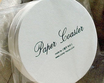 30 Hard Papers for Making Coasters - Circle (3.5in)