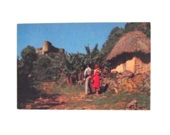 Vintage Pan American La Citadelle, Haiti Unused Postcard