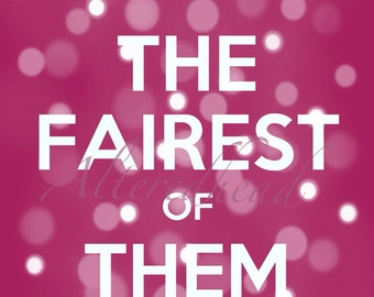 The Fairest Of Them All Illustration Print