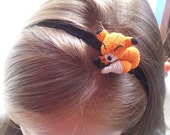 Fox headband - fox hair accessory - Toddler,child adult sizes - girls headband - hair accessory