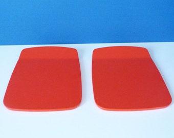 Melamine butter plaques, designed by Bjorn Christensenn, for Rosti Mepal of Denmark
