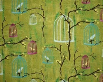 Hanging Cages- Retro Michael Miller 1 Yard Fabric NEW
