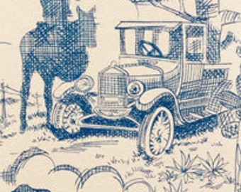 SALE!-  Rancho toile - Alexander Henry 1 Yard Fabric