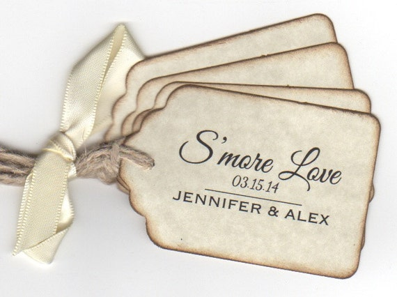 Wedding Favour Gift Tags: Items Similar To Smore Love Wedding Favor Tags