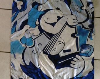 L'amour Bleu Silk Scarf