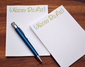 To Do List Notepads /Personalized Notebook / To Do List Note Pads / Set of Notepads /  Set of 2 Honey Do Notepads