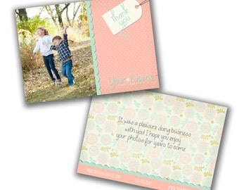 INSTANT DOWNLOAD  -  Thank you Card Template for Photographers - 0798