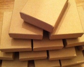 "Kraft Jewelry Gift boxes  3 1/4"" x 2 1/4"" x 1"" set of 10"
