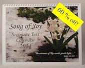 2014 Calendar w/ Scripture Prints CSP-013
