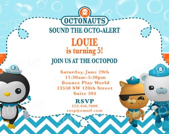 Octonauts Birthday Invitation -  DIY Digital, Printable Party INVITATION - 4x6 or 5x7