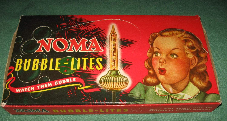 Vintage Christmas Tree Noma Bubble Lights Lites Original Box