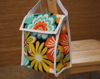 Reusable Lunch Bag - Tropical Flower