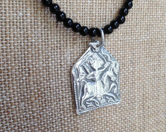 Pure Silver Egyptian Warrior Pendant