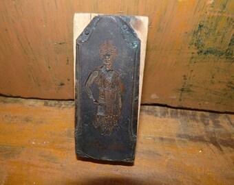 Madame Grace Corsets, Vintage Printers Block b1d3