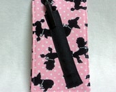 Notepad Holder - Purse Size Notebook and Pen - Poodles and Chihuahuas - Your Choice - Pink or Aqua