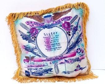 Pillow Case Military Collectible Sister Souvenir