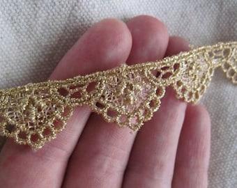 metallic GOLD scallops venice lace