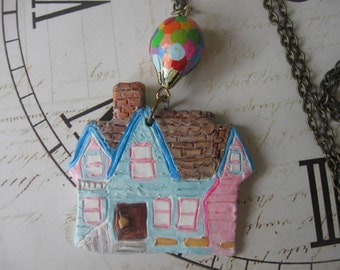 floating away. vintage beads flying house movie inspired