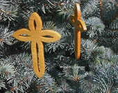 Cross Shape Hanging Ornaments - Wooden Cross Ornaments
