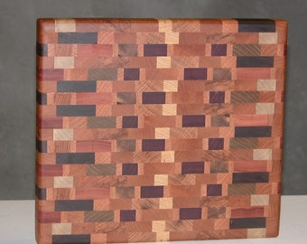 Chunky Wooden Cutting Board with Endgrain Beauty