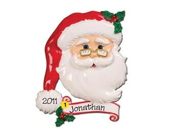 Personalized Christmas Ornament Jolly Santa's- Great for Neighbors,Grandkids, Co-workers, Staff, Crew