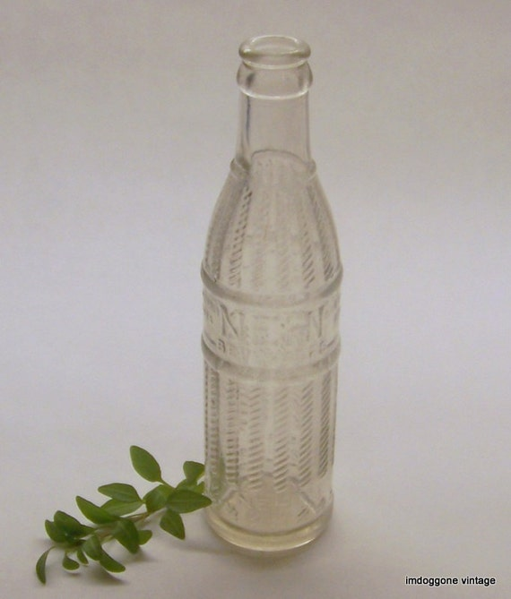 Nehi Vintage Soda Bottle 1920s Clear Antique Bottle Columbus