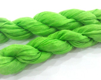 Light green Cord for Jewelry Design  66x3.5 inches  (9x170 cm) G1165