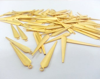 10 Pcs (32x6 mm) Gold Plated Brass Charms  G2250