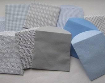 "10 Mini Envelopes - Recycled Security Envelopes - Recycled Mini Envelopes - Tiny Envelopes - 1 7/8"" x 2"""
