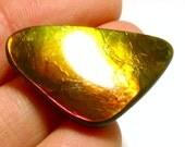 Ammolite Cabochon Stabilized Trillion Vibrant Red Designer Hand Cut Korite Ammonite Alberta Canadian Precious Gemstone Pendant Rare Opalized