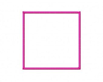 Square Embroidery Machine Alphabet Applique Frame Design 10713