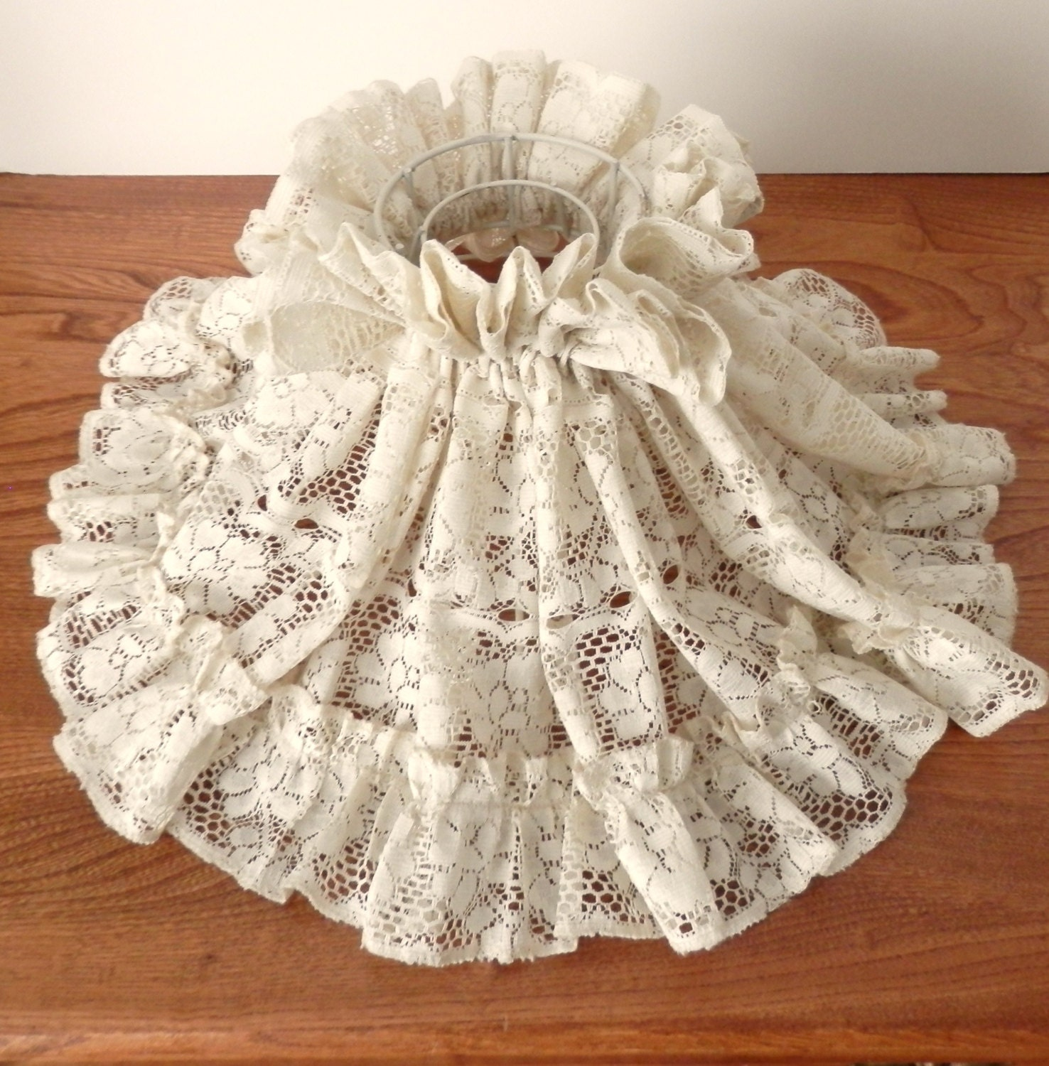 Vintage Lace Oil Lamp Shade Oil Lamp Wire Based Shade