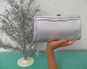 Beautiful Silver Evening Clutch - Handbag - Purse